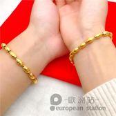 手鍊/情侶手鏈鍍金男女轉運珠首飾「歐洲站」