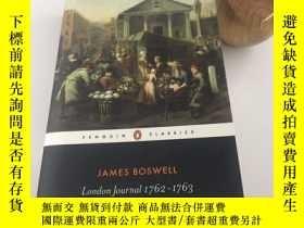二手書博民逛書店London罕見Journal, 1762-1763Y442829 James Boswell Penguin