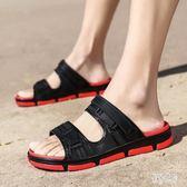 沙灘鞋 夏季男士涼鞋潮流防滑室外網紅拖鞋夏天時尚外穿個性休閒 QX12879『男神港灣』