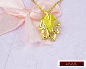 9999純金 黃金 幸運草系列 墜飾 墜子 情人節 生日禮 送精緻皮繩項鍊