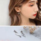 《ZC1403》時尚質感水滴型小鑽造型耳環 OrangeBear