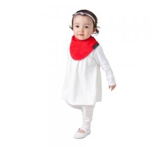 紐西蘭 Mum 2 Mum 機能型神奇三角口水巾圍兜-紅 吃飯衣 口水衣 防水衣