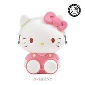 【SAS】日本限定 三麗鷗 HELLO KITTY 凱蒂貓 3D POCHI p+g design 收納包 / 零錢包 (粉色款)