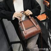 手提包   大包包女潮復古韓版百搭斜挎女包水桶包大容量   ciyo黛雅