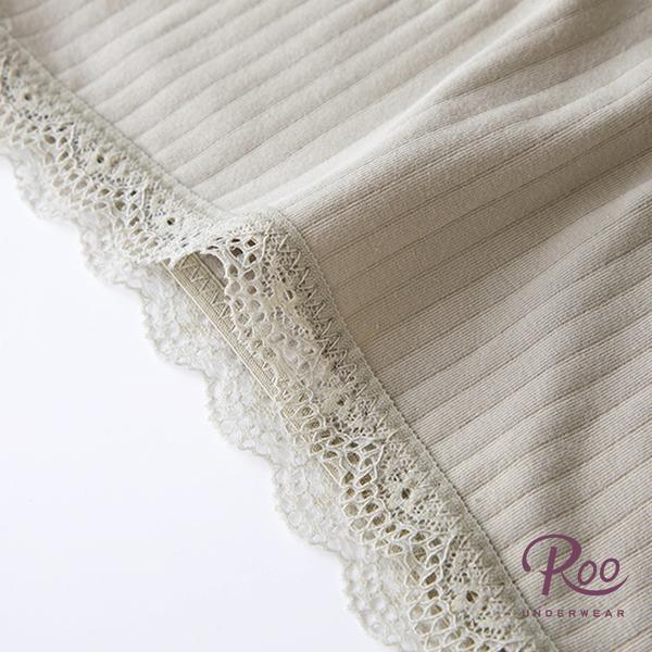 中低腰內褲。ROO內褲。日系女用蕾絲滾邊純色透氣中低腰內褲 02-00004