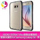 SEIDIO TETRA™ Pro 極簡金屬邊框雙層保護殼 for Samsung Galaxy S6 - 黑
