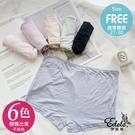 抗菌咖啡紗素面中腰內褲 FREE(6色-隨機出貨)-伊黛爾