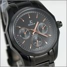 【萬年鐘錶】SIGMA日系 三眼時尚錶 1018B-BG