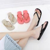 售完即止-木木小棧人字拖女情侶夾腳外穿沙灘鞋平跟防滑夾趾人字拖鞋12-21(庫存清出T)
