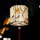 元宵節花燈 創意漢服手提宮燈花草燈diy手工燈籠材料包 古風花燈 怦然心動