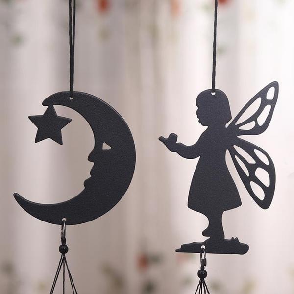 小天使迷你鋁棒風鈴掛飾門飾創意陽臺小清新女生臥室裝飾生日禮物一米