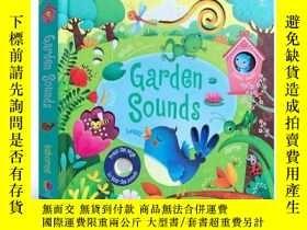 二手書博民逛書店花園的聲音罕見英文原版 Garden Sounds 發聲紙板書