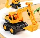 挖掘機玩具 大號挖掘機慣性挖機工程車挖土推挖沙玩具男孩鉤機沙灘玩具車【快速出貨八折搶購】