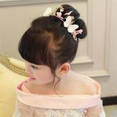 髮飾 兒童發飾女童公主頭飾發夾兒童頭花演出發飾兒童禮服配飾發箍蝴蝶 歐雷爾藝術館