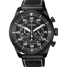 CITIZEN 星辰 光動能飛行員計時手錶-灰x黑/45mm CA4215-21H