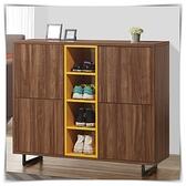 【水晶晶家具/傢俱首選】ZX1424-2倫比亞3.63尺四門造型黑鐵腳鞋櫃