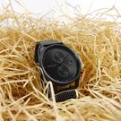 MVMT / D-MV01-BL2 / 雙時區顯示 礦石強化玻璃 防水100米 米蘭編織不鏽鋼手錶 鍍黑 42mm