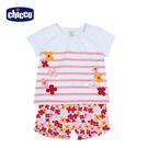 chicco-TO BE 繽紛花朵短袖套裝