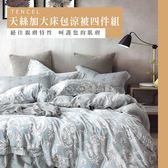 天絲/專櫃級100%.加大床包涼被四件組.伯爾曼/伊柔寢飾