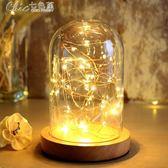 小夜燈 溫馨浪漫個性diy檯燈臥室簡約現代插電床頭燈創意夢幻喂奶「Chic七色堇」