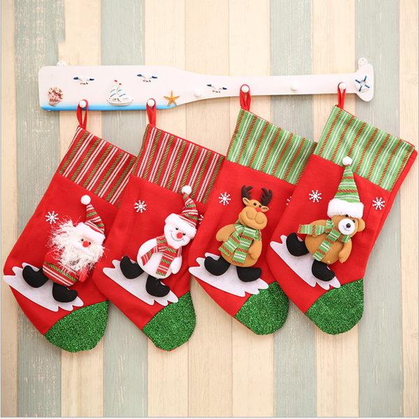 新款聖誕立體大襪子禮物袋 聖誕節日用品 聖誕兒童裝禮品袋─預購CH2417