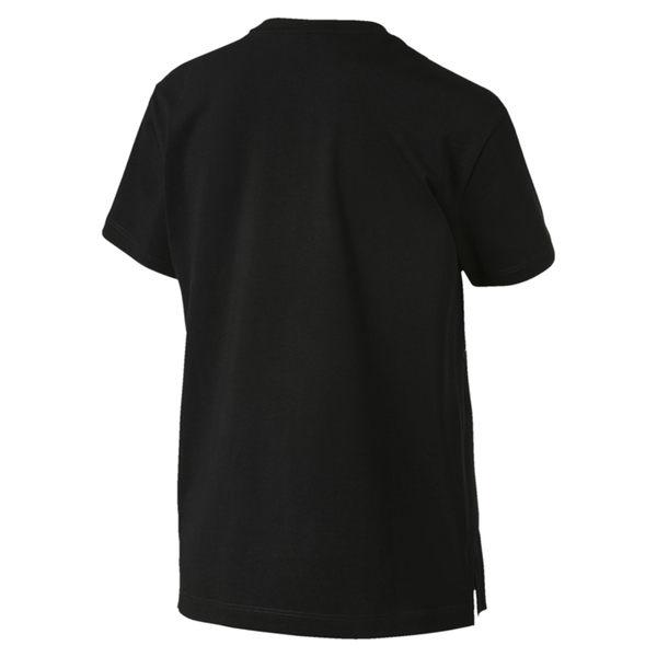 Puma Classics 女 黑 印花 短袖 運動上衣 短袖 T恤 運動 休閒 慢跑 瑜珈 棉質上衣 57904756