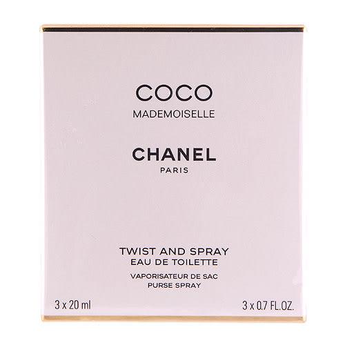 Chanel 香奈兒 Coco Mademoiselle 摩登可可淡香水3 x 0.7oz, 3 x 20ml ~
