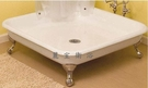 【麗室衛浴】獨立式鑄鐵方形淋浴底座 1060*1060*167mm