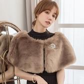 美之札[88176-S]奢華柔順仿兔狐毛禮服搭配毛毛披肩(共7色)
