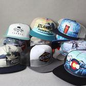 虧本促銷-卡車帽美式復古刺繡硬頂棒球帽平檐帽街舞美貨車帽卡車網眼帽