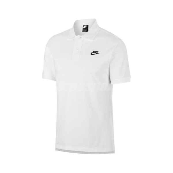Nike 短袖T恤 NSW Polo 白 黑 男款 Polo衫 運動休閒 【ACS】 CJ4457-100