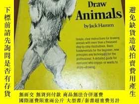 二手書博民逛書店HOW罕見TO DRAW ANIMALS 如何畫動物Y20470