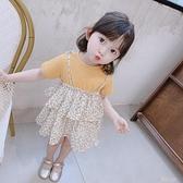 女寶寶吊帶裙兒童2020夏季新款蛋糕裙小童裙子女童洋氣夏裝洋裝 米娜小鋪