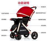 小呼嚕嬰兒推車可坐可躺輕便折疊高景觀避震兒童寶寶手推車嬰兒車梗豆物語