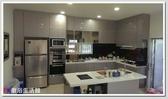 ❤PK 廚浴 館 店面❤高雄廚房歐化系統櫥具L 型上下櫥流理台水晶門板杜邦台面附中島櫃