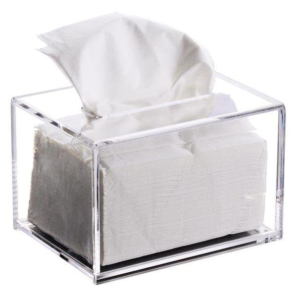 雙11優惠搶先購-面紙盒創意紙巾盒壓克力時尚皮革