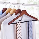 10個裝復古實木衣架無痕掛衣架衣服撐子晾衣架【奈良優品】