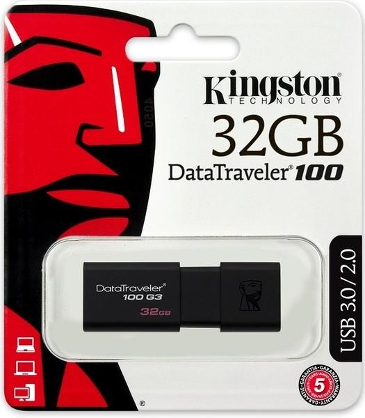 Kingston 32GB 32G【DT100G3】Data Traveler 100 G3 DT100G3/32GB USB 3.0 金士頓 原廠保固 隨身碟