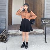 中大尺碼  黑色百褶裙 - 適XL~4L《 79199 》CC-GIRL