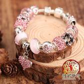 潘朵拉手鍊 粉色愛戀 甜蜜姻緣手鍊 含開光 臻觀璽世 IS0639