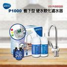 德國BRITA On Line P1000-硬水軟化型濾水器(本組合內含2濾芯)✔LED升級版出水龍頭✔免費安裝✔水之緣