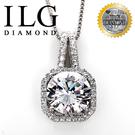【ILG鑽】頂級八心八箭擬真鑽石項鍊- 永恆璀璨款-NC085適合氣質優雅的妳