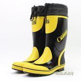 雨鞋男春夏新款中高筒透氣橡膠鞋防水鞋時尚膠鞋水靴防滑套鞋舒適「時尚彩虹屋」