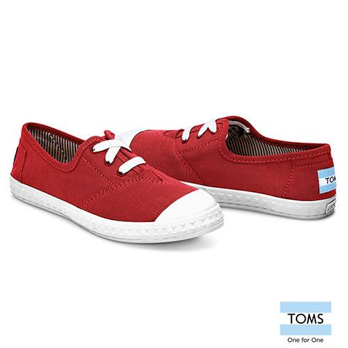 TOMS 帆布休閒鞋-孩童款(10007675 RED)