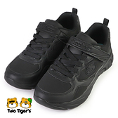 SKECHERS DYNAMIC DASH 皮革 運動鞋 中大童 全黑 NO.R7060(302615LBBK)