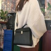 韓國單品百搭新款純色氣質休閒手提包單肩斜跨包兩背帶包女 聖誕交換禮物