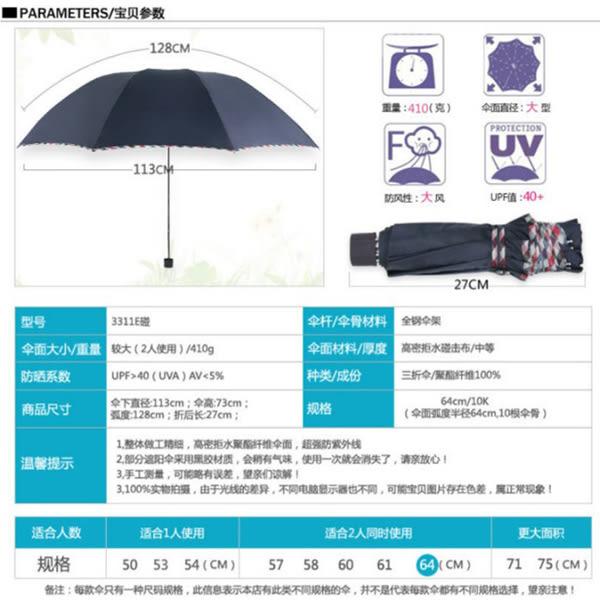 十骨 創意 雨傘 防紫外線 太陽傘   碰   三折