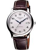 LONGINES 浪琴 Master 巨擘系列機械腕錶/手錶-銀x咖啡色錶帶/42mm L28934783
