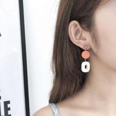 日韓圓形木頭復古耳環女氣質長款個性簡約百搭網紅吊墜耳墜耳飾品