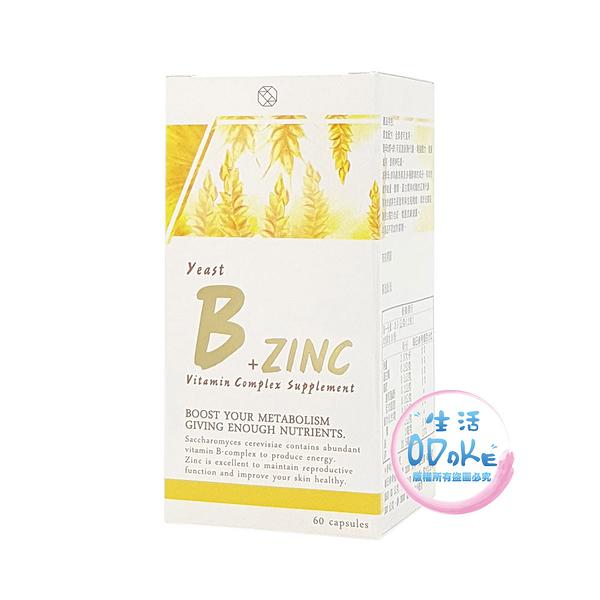 酵母B+鋅ZINC 60錠 濟生BEAUTY 全素者可食用 台灣製造 保健食品 健康補助食品【生活ODOKE】
